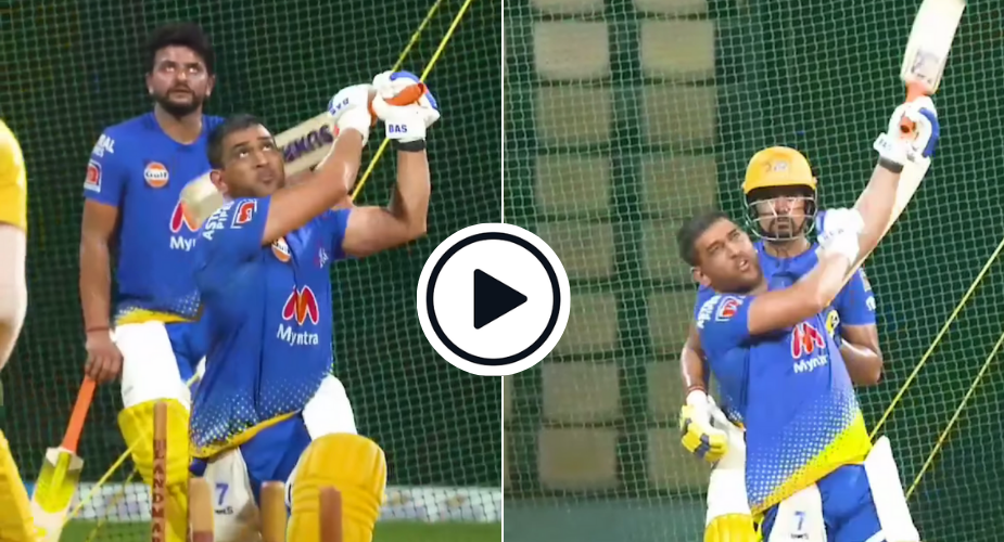 Watch: MS Dhoni smashes it long and big in CSK nets ahead of IPL 2021