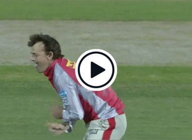 Watch: Adam Gilchrist dismisses Harbhajan Singh on his first and only T20 ball