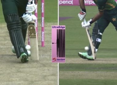 South Africa DRS review shot down despite UltraEdge suggesting ball hit pad first