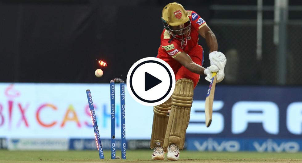 Watch: Deepak Chahar castles Mayank Agarwal with Test-class new-ball beauty