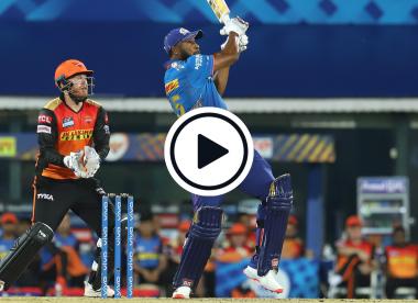 Watch: Kieron Pollard smashes Mujeeb for biggest six of IPL 2021 so far