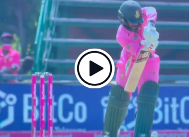 Watch: Bavuma's bat breaks in bizarre fashion after routine defensive shot off Faheem