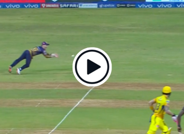 Watch: Eoin Morgan takes excellent diving catch to dismiss in-flow Dhoni