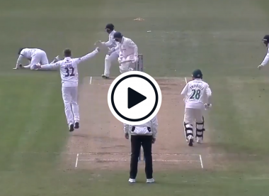 Watch: Liam Dawson takes one-handed screamer after smashing 152*