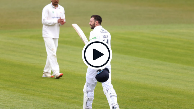Highlights: James Vince creams gorgeous run-a-ball double-ton in County Championship opener