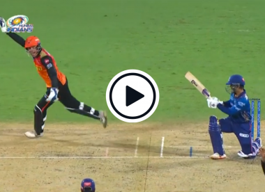 Watch: Jonny Bairstow takes excellent unsighted leg-side grab off Mujeeb