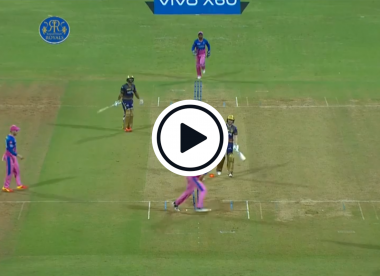 Watch: Eoin Morgan run out for diamond duck after straight drive smashes into his bat