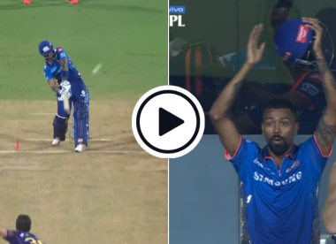 Watch: SKY helicopters ridiculously stylish six onto the roof to leave Hardik flabbergasted
