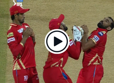Watch: Shami clings on to Stokes catch despite three-way mix-up, collision with keeper