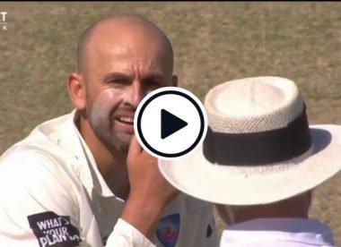 Watch: 'He's got a bat' - Nathan Lyon muttering caught on stump mic after Labuschagne pads up