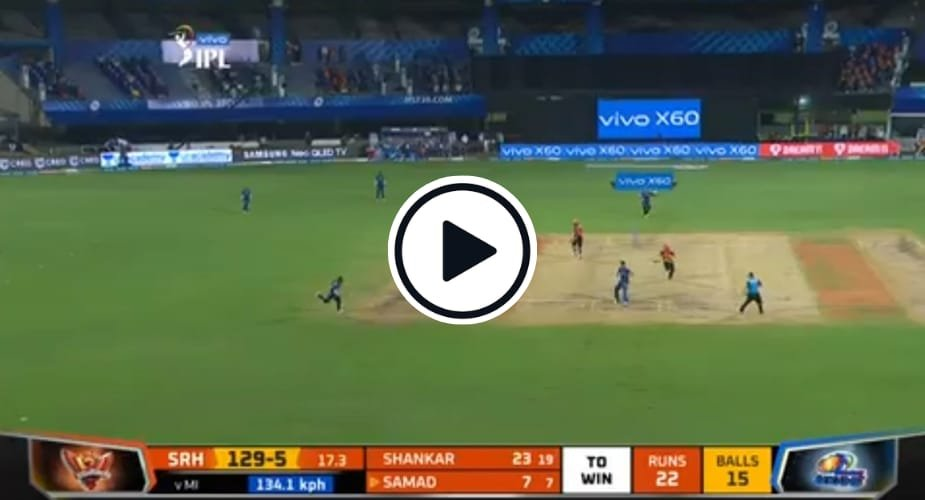 Hardik Pandya effected two direct hits in the game