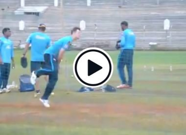 Watch: Steve Smith's tests out his leg breaks in the Delhi Capitals nets