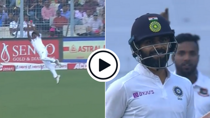 Watch: The Taijul Islam catch that made even Virat Kohli grin after his wicket