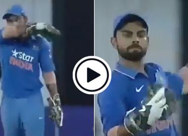 Watch: Virat Kohli hilariously mimics MS Dhoni while wicketkeeping in 2015