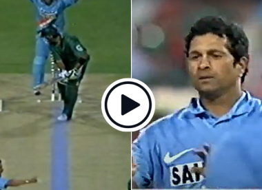 Watch: Sachin Tendulkar's only T20I wicket on India's debut in the format