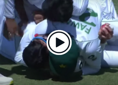 Watch: Azhar Ali takes stunning one-handed catch at gully
