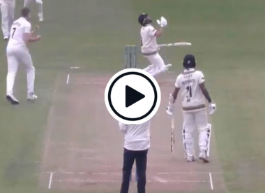 Watch: Batsman incensed after caught behind decision in county game