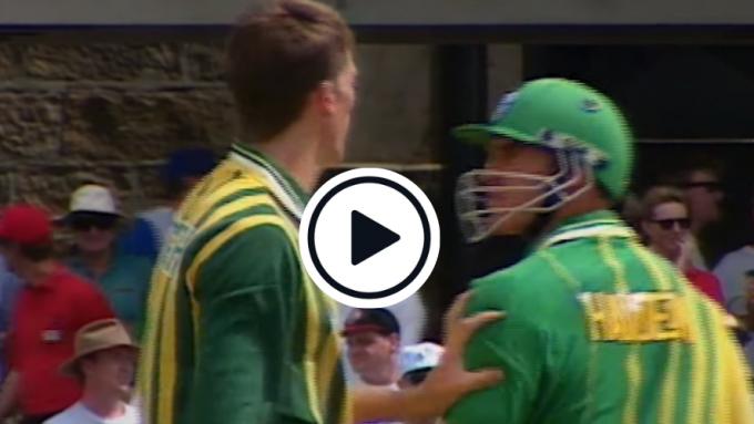 Watch: Matthew Hayden and Glenn McGrath's heated on-field scuffle