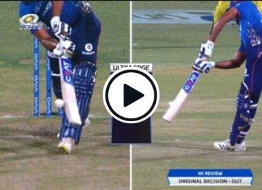 Watch: Commentators baffled as UltraEdge spike saves Rohit Sharma