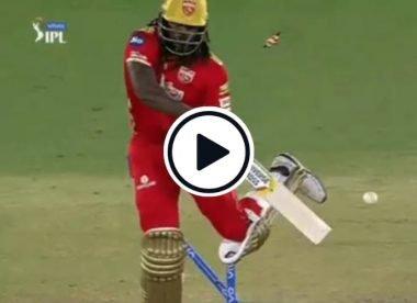 Watch: Rabada's fiery full toss sends Gayle's stumps flying