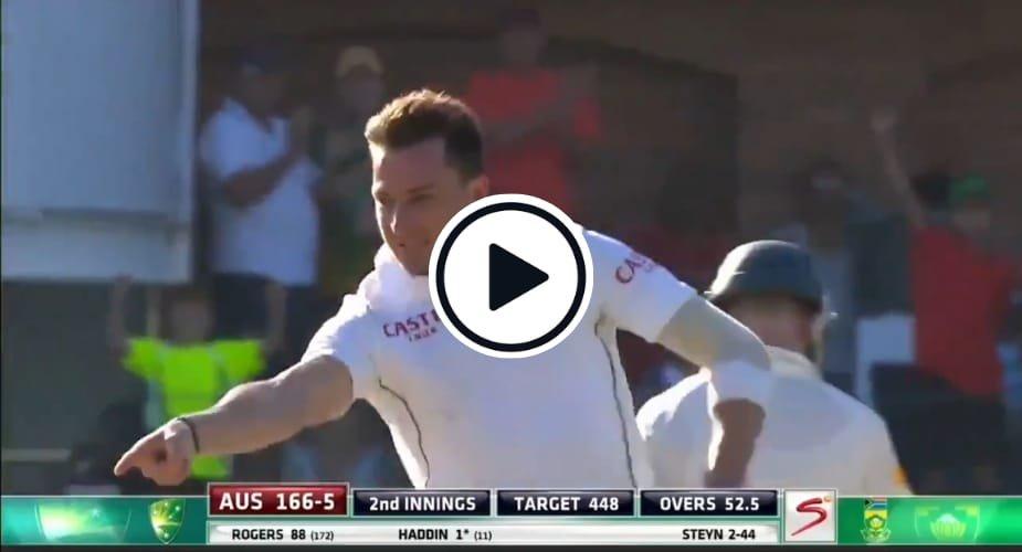 Watch: Dale Steyn reverse swing blows away famed Australia middle order