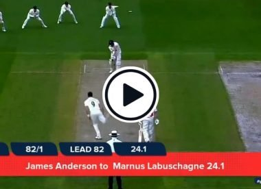 Watch: James Anderson produces corker to dismiss Marnus Labuschagne