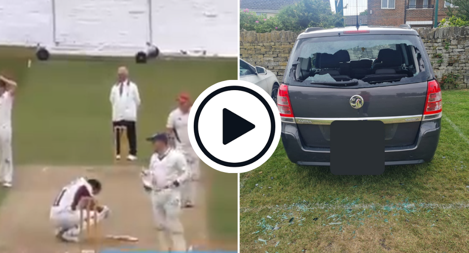 Watch: Club Cricketer Smashes His Own Car Windshield With A Six
