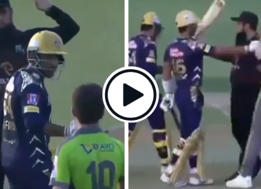 Watch: Sarfaraz involved in verbal duel with Shaheen after being hit on helmet