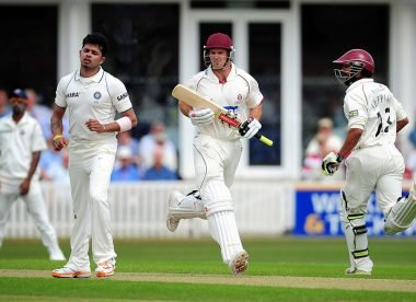 When Andrew Strauss joined Somerset on loan to play against India
