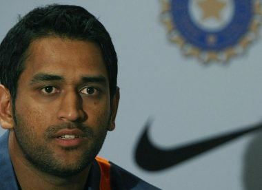 When MS Dhoni turned up for a presser with the entire Indian team