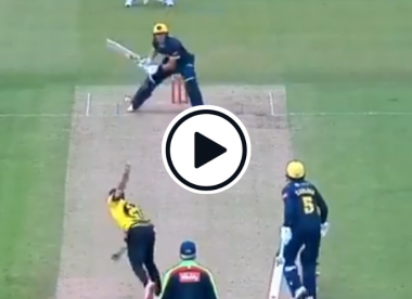 Watch: Labuschagne changes stroke mid-delivery to dab wide yorker for four