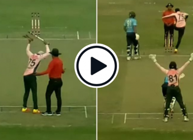 Watch: Shakib throws almighty tantrum, smashes down stumps repeatedly during Dhaka Premier League clash