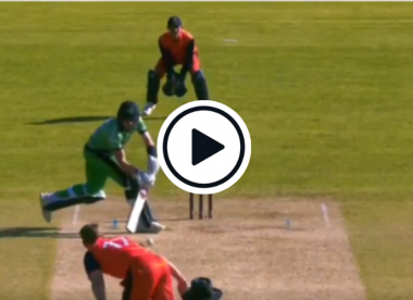 Watch: Ireland all-rounder steps off the pitch to play incredible ramp shot