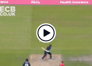 Watch: 'Absolute shambles of a delivery' as bowler lets slip and batter misses freebie
