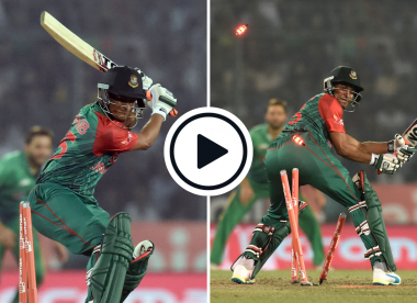 Watch: When Shakib Al Hasan smashed down the stumps in anger in the 2016 Asia Cup