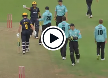 Watch: Animated Labuschagne exchanges words with Roy, Curran after being hit by throw twice