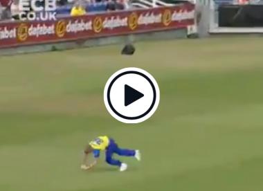 Watch: Ben Stokes takes superb tumbling catch on T20 Blast return