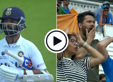 Watch: India fan goes viral after TV coverage captures hilarious reaction to Ajinkya Rahane dismissal