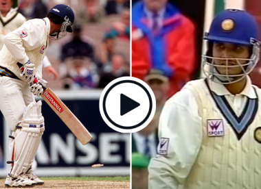 Watch: Sourav Ganguly stands his ground after being bowled by Aussie part-timer