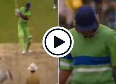 Watch: Pakistan lose two in two, Wasim Akram flicks Ambrose for six in response