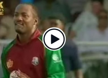 Watch: 1 over, 55 to win - Brian Lara, the leg-spinner, into the attack