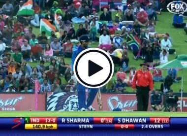 Watch: Rohit Sharma gets applauded for finally making contact with the ball against Dale Steyn