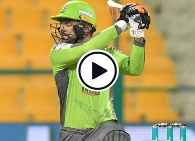 Watch: Rashid Khan blasts hat-trick of fours in final over to help Lahore Qalandars pull off a heist