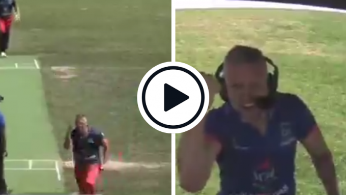 Watch: Ecstatic Pavel Florin sprints into commentary box, grabs microphone to celebrate wicket