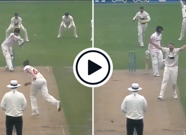 Watch: Travis Head plays ill-judged leave in County Championship, walks before being given LBW