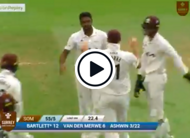 Watch: Ashwin claims cheap six-for as he rips through top County Championship side