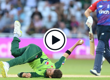 Watch: Shaheen Afridi snaffles sensational return catch to see off world's No.1 T20I batsman