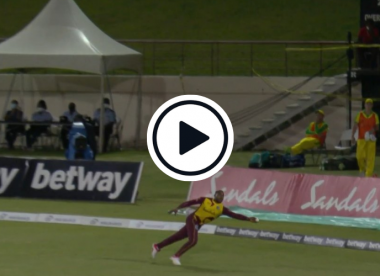 Watch: Fabian Allen sprints to pull off one-handed screamer on the boundary
