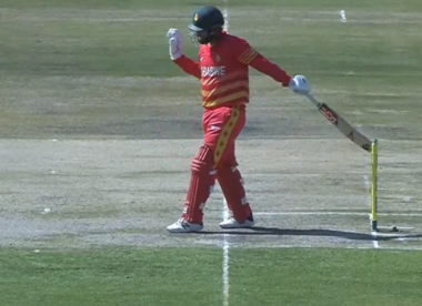 Why Brendan Taylor shouldn't have been given out hit wicket against Bangladesh, despite hitting the stumps with his bat