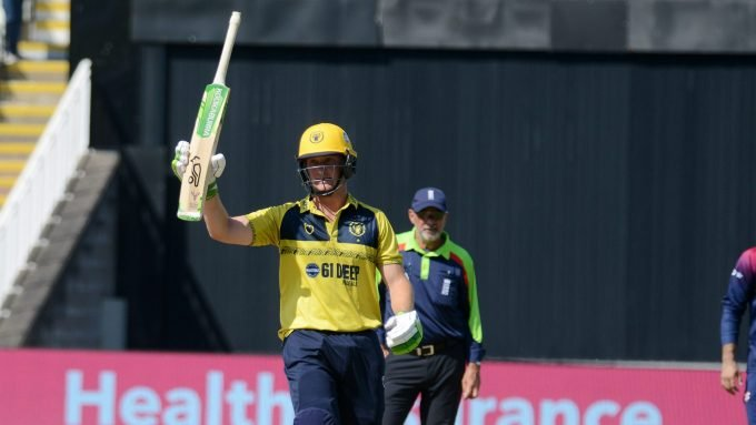 Meet Chris Benjamin, one T20 into his career and now at The Hundred